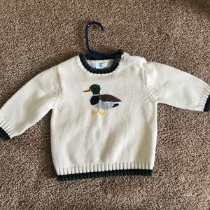 Janie and Jack duck sweater